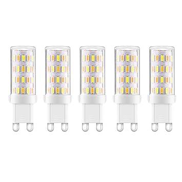 Ascher 5er Pack G9 LED Lampe,Kein Flackern,(3W, Ersetzt 35W Halogen ...