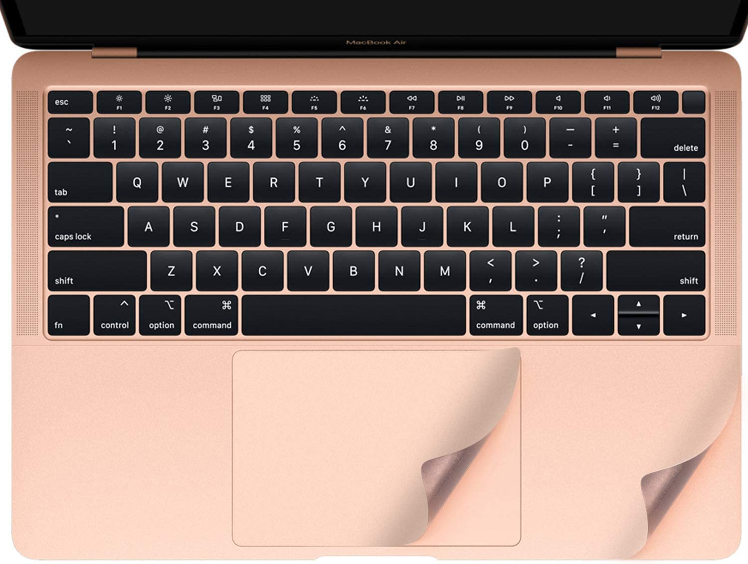 imComor Palm Rest Cover Compatible with 2020 New MacBook Air 13 Inch Model A2179 A1932 with Trackpad Protector Sticker Skin for Apple MacBook Air 13 Inch A2179 A1932 with Touch ID (Gold)