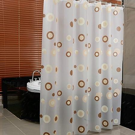lxmx cortina de ducha verdickung moho impermeable bañera cortina baño Mampara de cortina, Kreis, 120cm*200cm: Amazon.es: Hogar