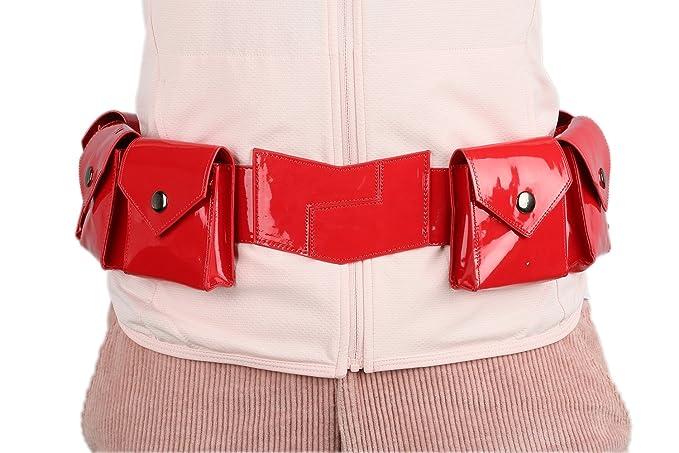 Amazon.com: Xcoser badgirl cinturón amarillo Deluxe PU ...