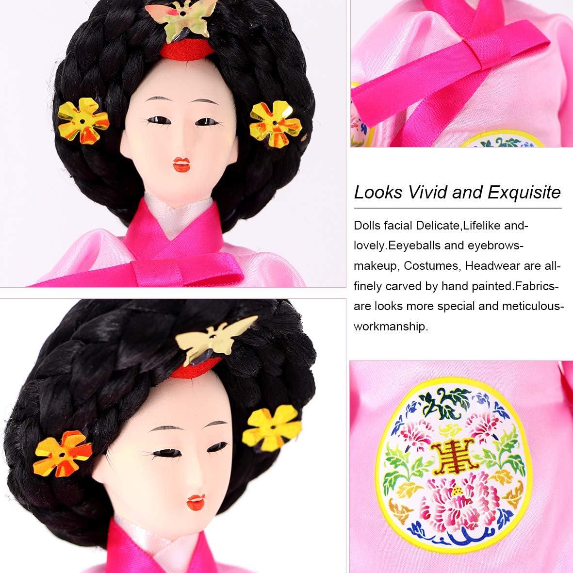 JG.Eshadoll 12 Korean Doll Hankok Furnishing Articles Oriental Doll Pink Multi, 12