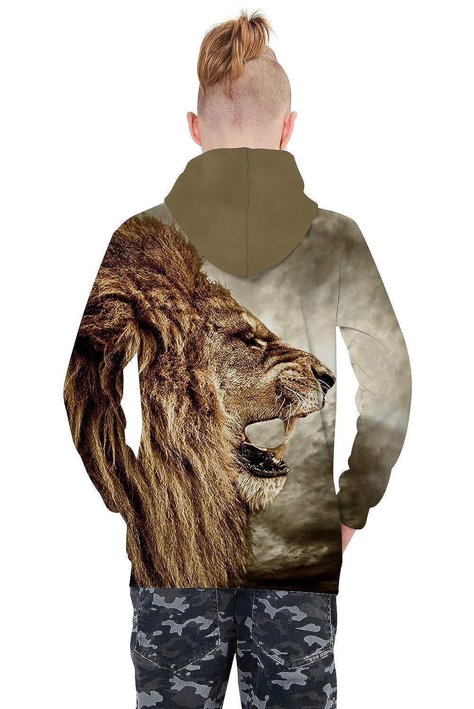 ALISISTER Sweats /à Capuche Enfant Gar/çons Filles 3D Imprim/é Hoodie Poches /à Cordon Sweat-Shirt 4-16 Ans