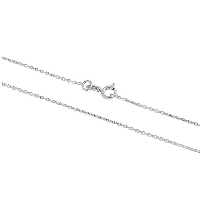 18aa133c81fa7 9ct White Gold Faceted Trace Chain 16 Inches + 2 Inch Extender ...