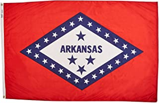 product image for Annin Flagmakers Model 140360 Arkansas State Flag 3x5 ft. Nylon SolarGuard Nyl-Glo 100% Made in USA to Official State Design Specifications.