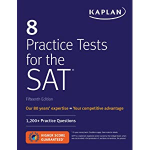 Amazon com: 10 Practice Tests for the SAT, 2019 Edition: Extra
