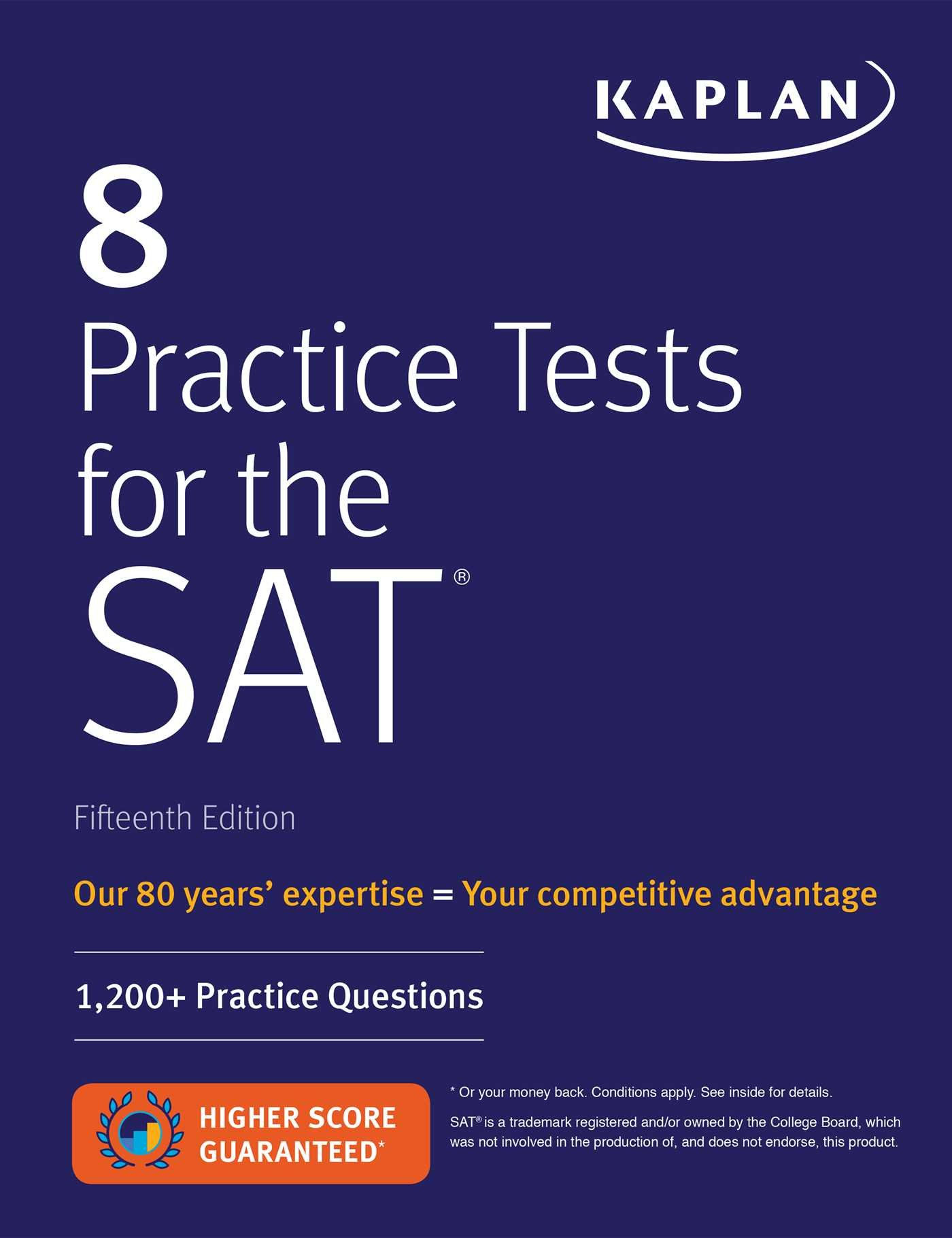 Amazon com: 8 Practice Tests for the SAT: 1,200+ SAT
