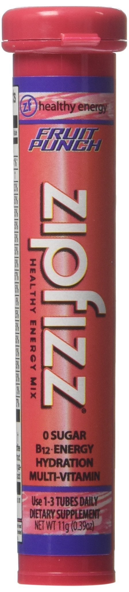Zipfizz Fruit Punch Flavored Drink Packets, 20 Count