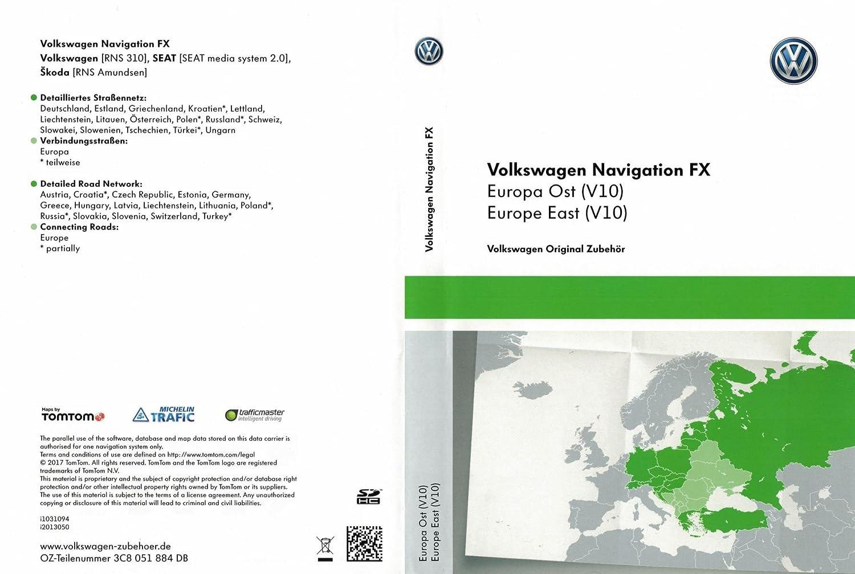 Skoda Amundsen Sd Karte.Vw Rns 310 Sat Nav Update Sd Card V10 Eastern Europe Amazon Co Uk