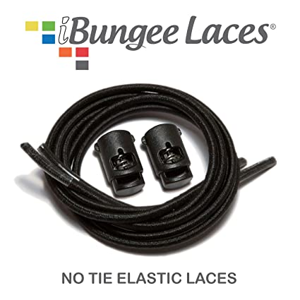 b22d3bc7e878 iBungee No Tie Shoelaces (Elastic) (With Shoe Lace Locks) - Premium Stretch  Laces - Easy Installation