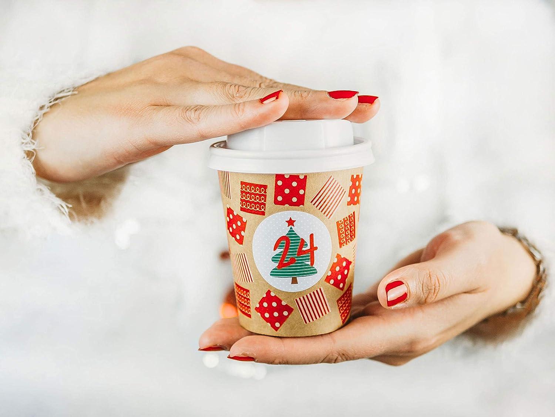 Animaux de la for/êt /Àcr/éer et remplir soi-m/ême Tasse /à caf/é DIY pour Calendrier de lAvent 24 Tasses /à caf/é