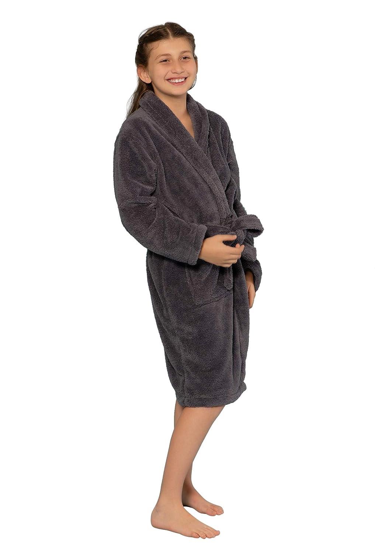Microfleece Soft Plush Bathrobe Kids Robe