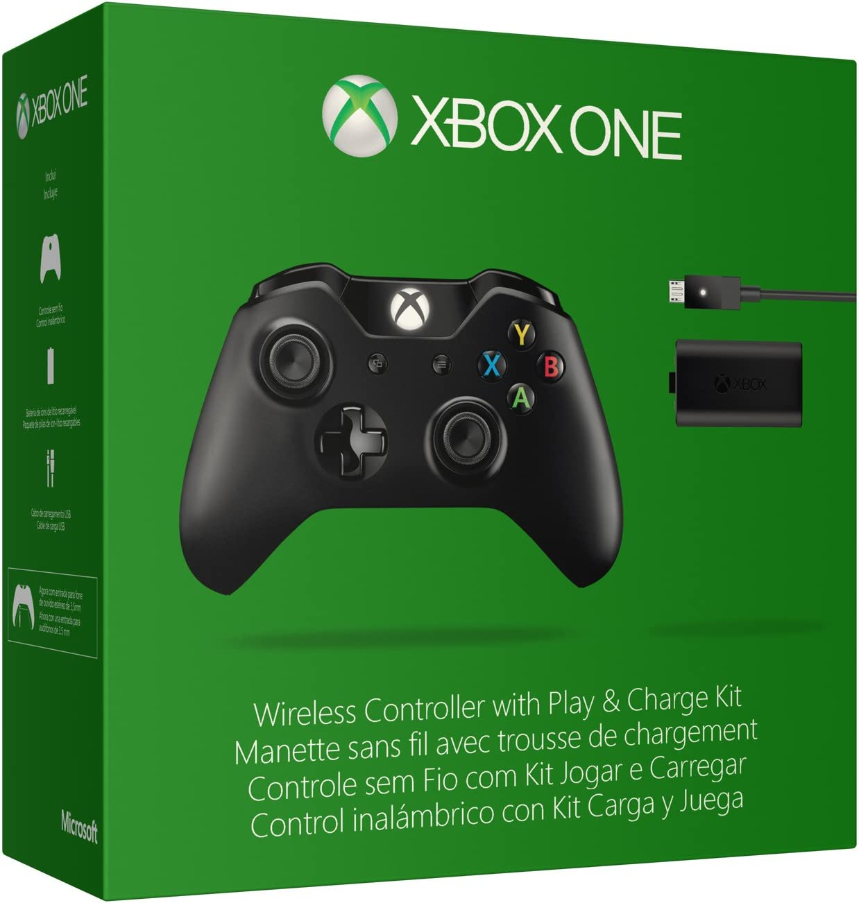Xbox One Wireless Controller With Play Charge Kit by Microsoft ...