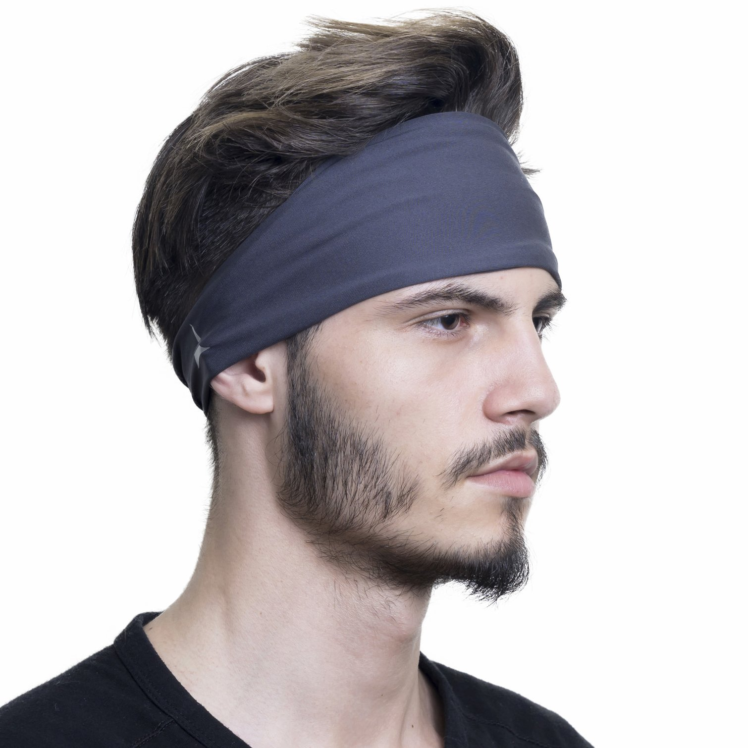 French Fitness Revolution Mens Headband - Guys Sweatband & Sports Headband for Running, Crossfit, Working Out and Dominating Your Competition - Performance Stretch & Moisture Wicking by French Fitness Revolution (Image #1)