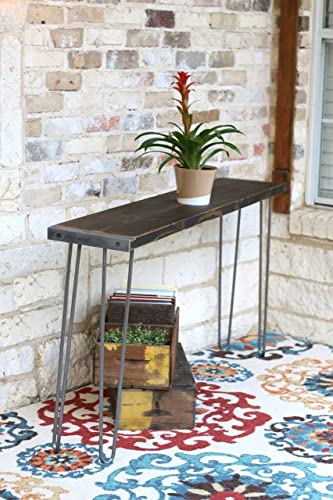 Amazoncom Stained Industrial 60 Inch Sofa Table Handmade