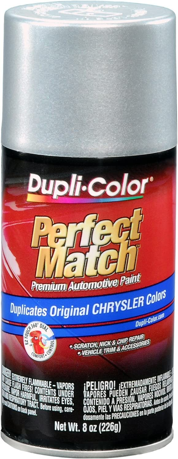 Dupli-Color EBCC0410 Bright Silver Metallic Chrysler Perfect Match Automotive Paint - 8 oz. Aerosol