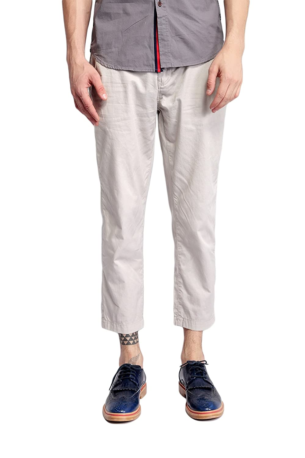 Pau1Hami1ton PH-04 Men's Casual Ankle Length Straight Cropped Trousers Pants PH-04-1