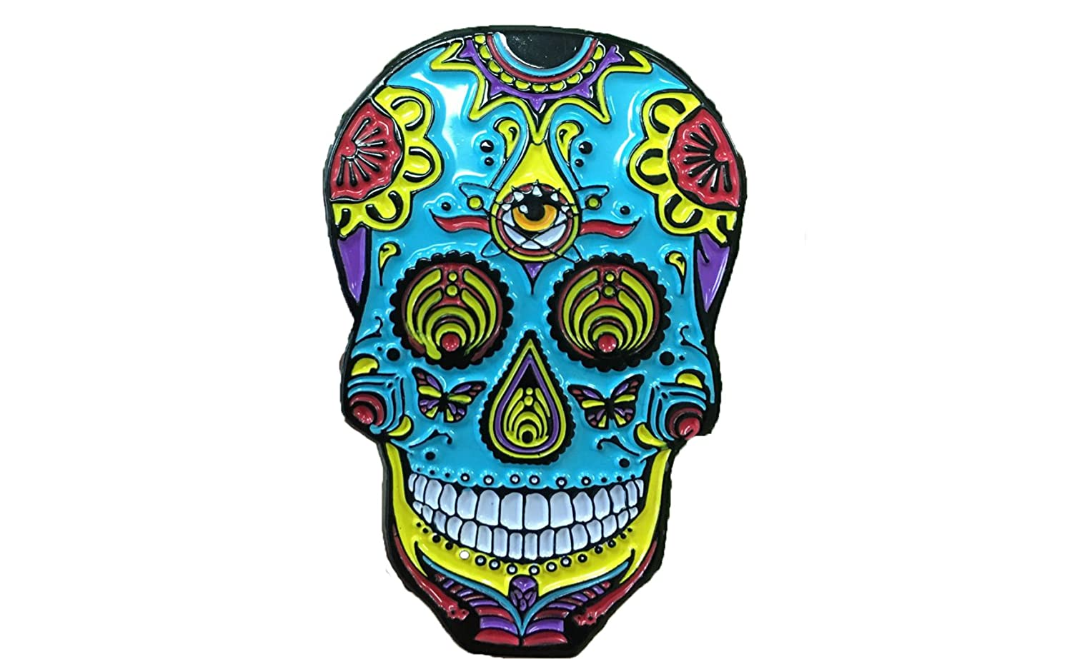 6da5d588b61 Amazon.com  Bassnectar Sugar Skull Hat Pin  Clothing