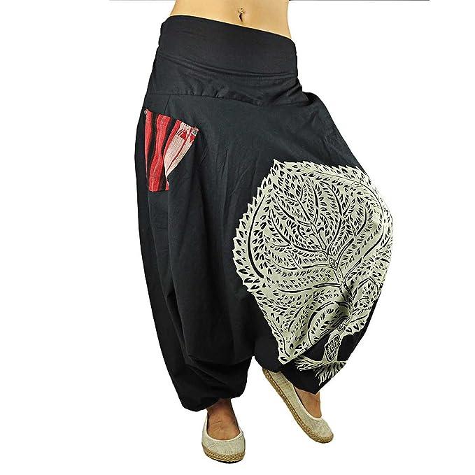 ed07df73a450 virblatt pantaloni alla turca per la donna e per l uomo con stampa di alta