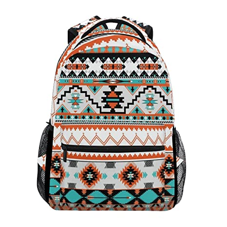 914f6a8a5c18 Image Unavailable. Image not available for. Color  WXLIFE Tribal Ethnic  Aztec Geometric Backpack Travel School Shoulder Bag for Kids Boys Girls Women  Men