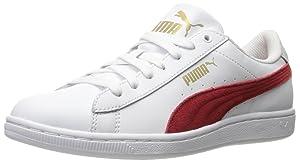 PUMA Women's Vikky Ls Sfoam Fashion Sneaker, Puma White/Barbados, 7.5 M US
