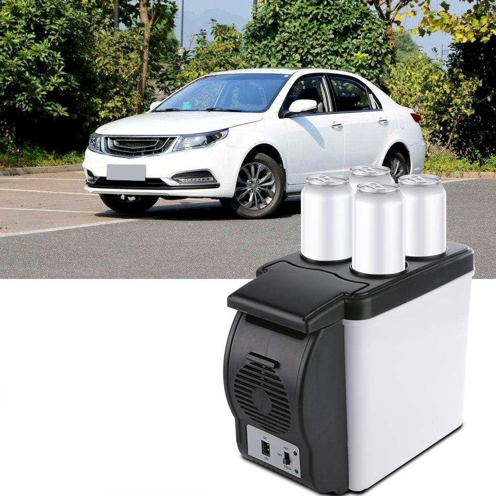 Auto Refrigerador Frigor/ífico El/éctrico Enfriador De Caja Y Congelador Port/átil M/ás C/álido Para Bar De Canotaje De Autos De Camping 6l Mini Refrigerador Para Auto