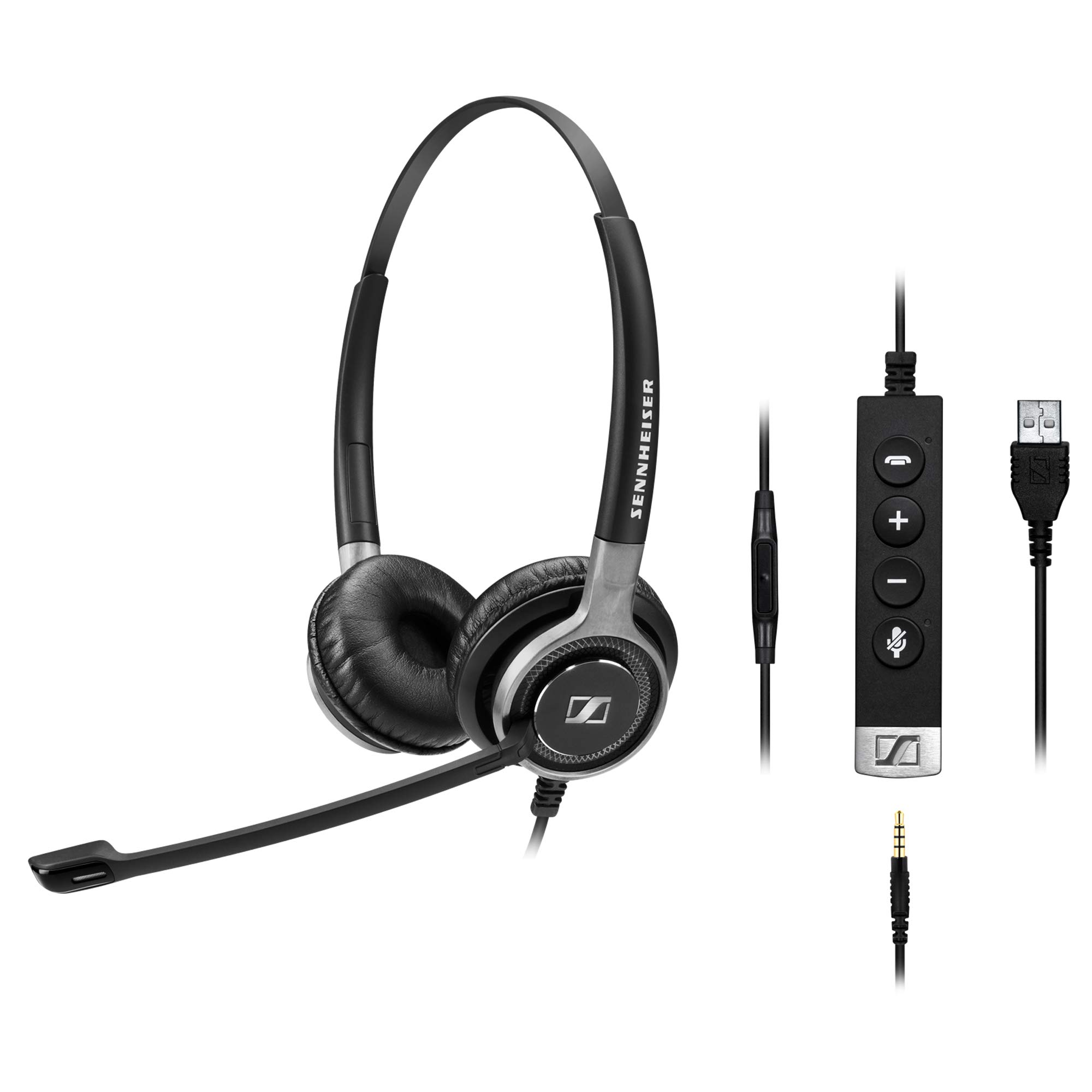 Sennheiser SC 665 USB (507257) - Double-Sided Business Headset | UC Optimized and Skype for Business Certified | For Mobile Phone, Tablet, Softphone, and PC (Black) by Sennheiser Enterprise Solution