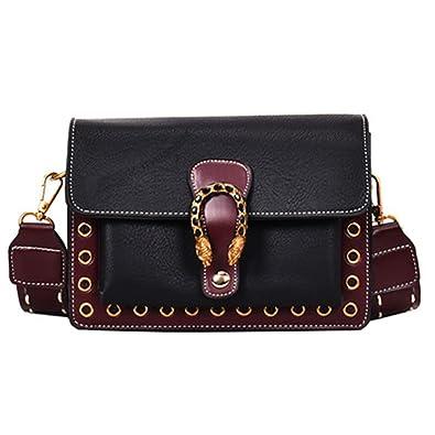 d00789c5754 Amazon.com: George Gouge Pu Leather Women Messenger Bags Hot ...