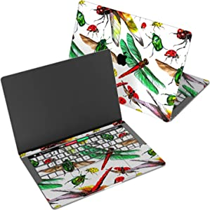 """Wonder Wild Skin for MacBook Decal Vinyl Air 11 inch Apple Mac 13 Retina 12 Pro 15 Keyboard 2019 2018 2017 2016 16"""" Protective Sticker Laptop Watercolor Insects Pattern Dragonfly Ladybug Multicolored"""