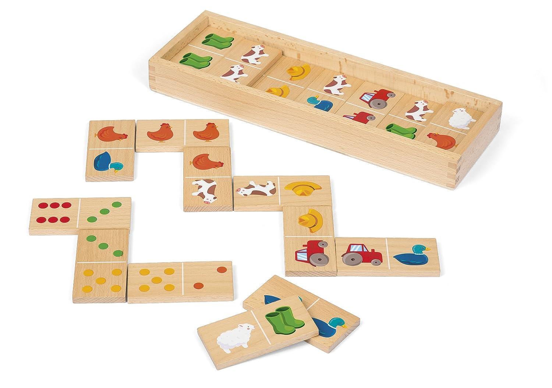 Puzzle aus Holz mit 8 Bauernhoftmotive Alter 1,5-3 Jahre. Holzspielzeug