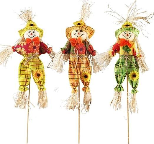 MLJ - 3 Piezas Halloween Espantapajaros Muñecas para decoración de Jardin, Casas, Patios, porches: Amazon.es: Jardín