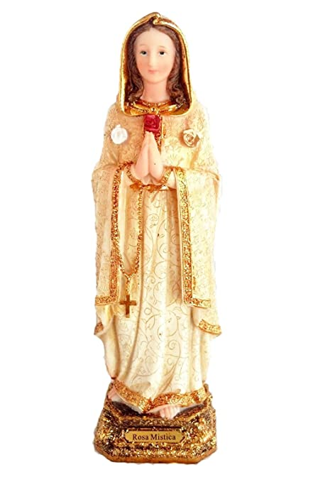 "8"" Inch Statue Rosa Mistica Mystica Religious Figurine Estatua Maria Mary"