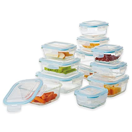 Glasslock Food Storage Container Sets Extraordinary Amazon Pro Glass 60Piece Oven Safe Glasslock Food Storage