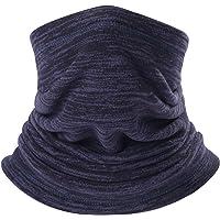 AYPOW Fleece Neck Warmer, Winter Warm Versatile Neck Warmer Extra Long Thick Neck Tube Windproof Balaclava Hood(Royal Blue Color) - Elastic Universal Size