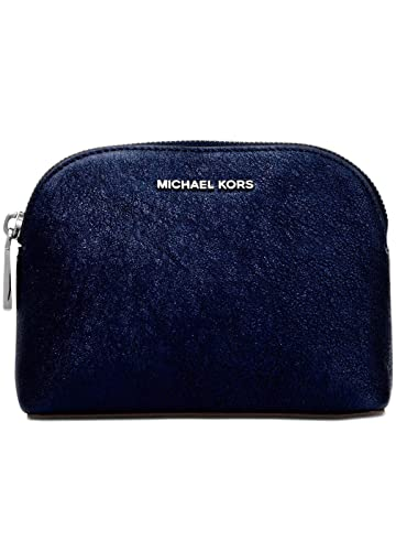 f85bf08553c9 Image Unavailable. Image not available for. Color  Michael Kors Pouch  Clutch Purse Glitter Leather Admiral Navy