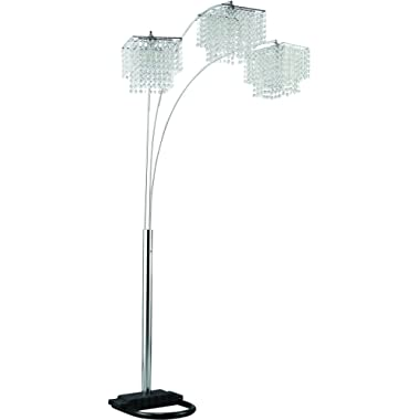 Coaster Home Furnishings Arc Floor Lamp with Poly Crystal Shades Chrome
