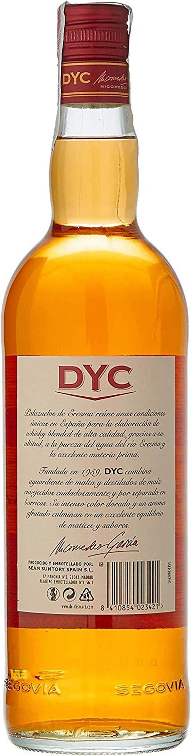DYC Whisky Nacional, 40% - 1000 ml: Amazon.es: Alimentación y bebidas
