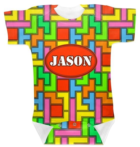 5b5215993 Amazon.com: RNK Shops Tetris Print Baby Onesie (Personalized): Clothing