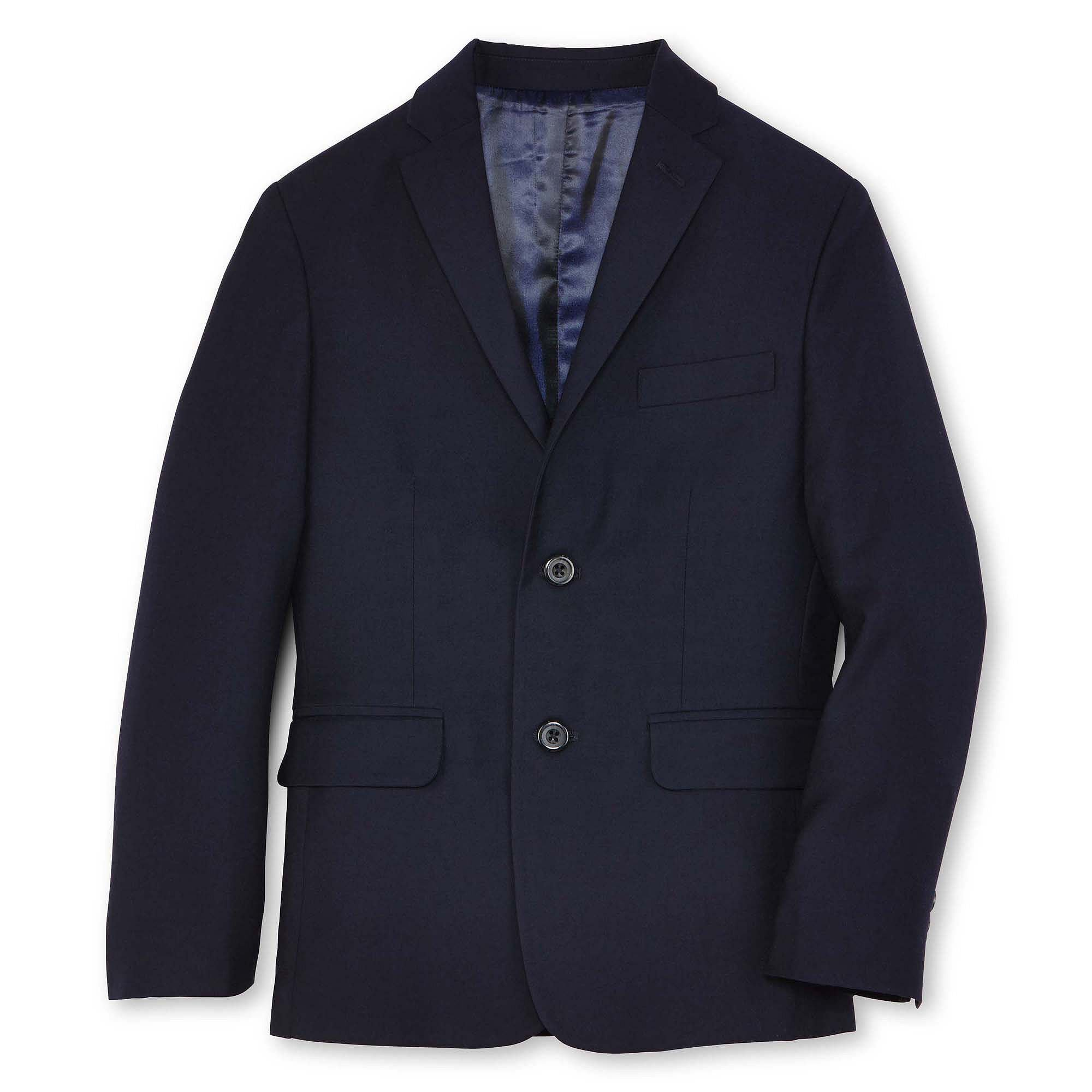 IZOD Boy's Fine Line Suit Jacket Blazer (12, Navy)
