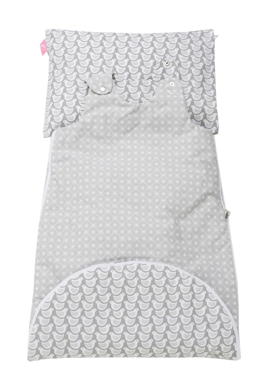 Motherhood 3 in 1 Babyschlafsack mit Kopfkissen und Kissenbezug B/äume blau