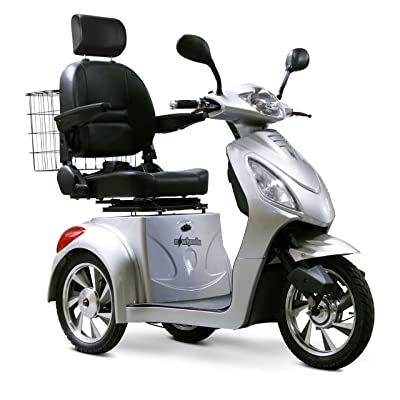 E-Wheels - EW-36 Full-Sized Scooter - 3-Wheel - Silver: Health & Personal Care