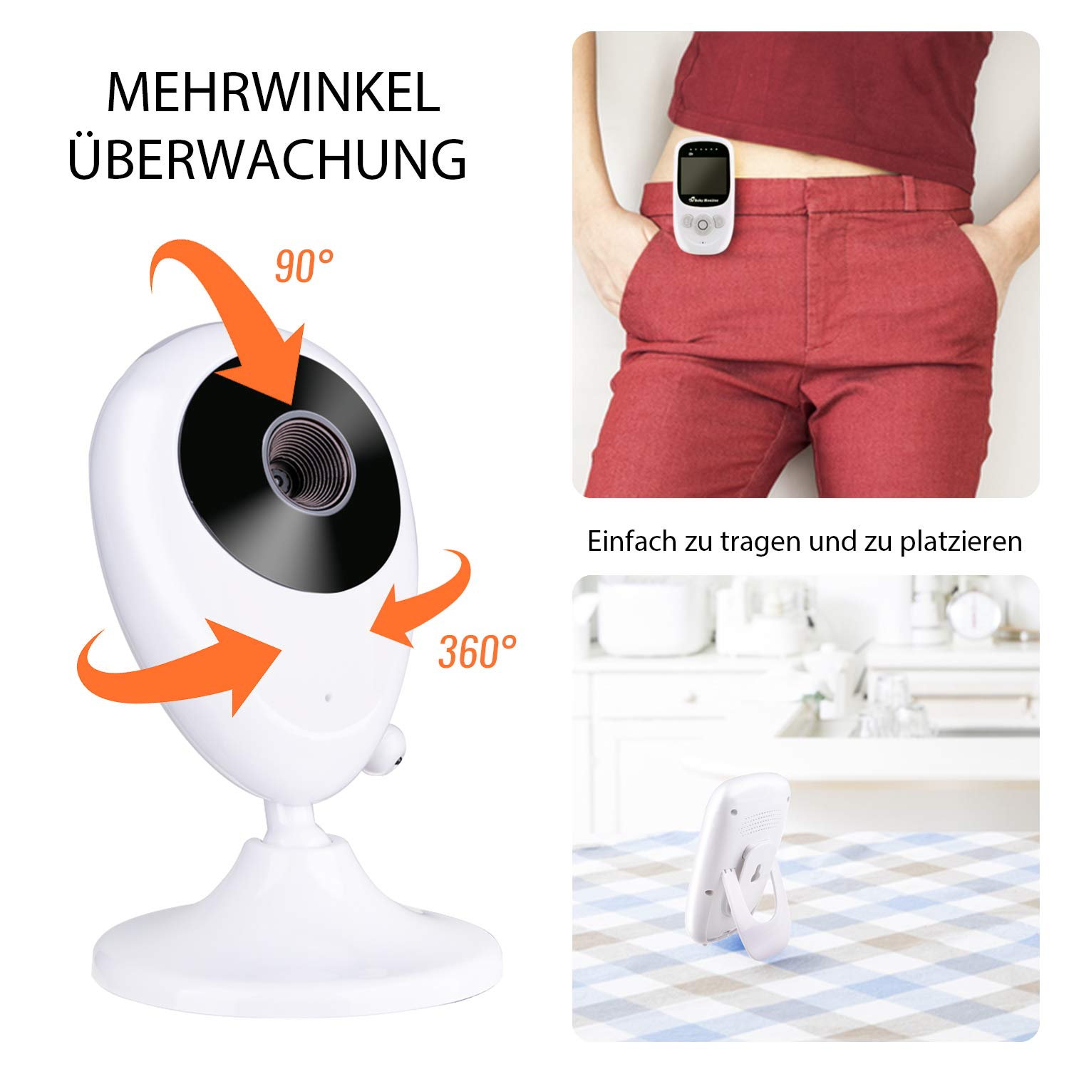 Nachtsicht Temperatur/überwachung /& 2 Way Talkback System Babyfon 2019 Babyphone mit Kamera Deyace Wireless Video Baby Monitor mit Digitalkamera