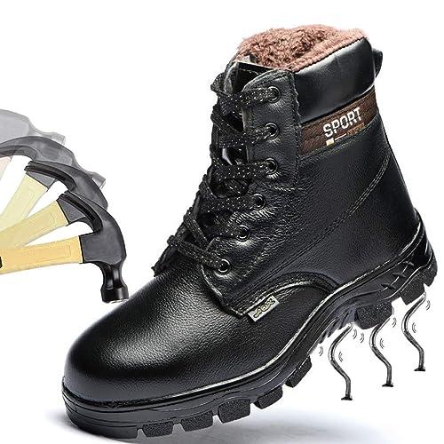 SROTER Mujer Hombre Botas de Seguridad Zapatos de Trabajo Zapatillas con Puntera de Acero Impermeables Botas
