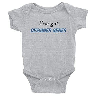 Amazon.com  Shirts Made By Mom I ve Got Designer Genes Infant Bodysuit   Clothing 7354a864593e