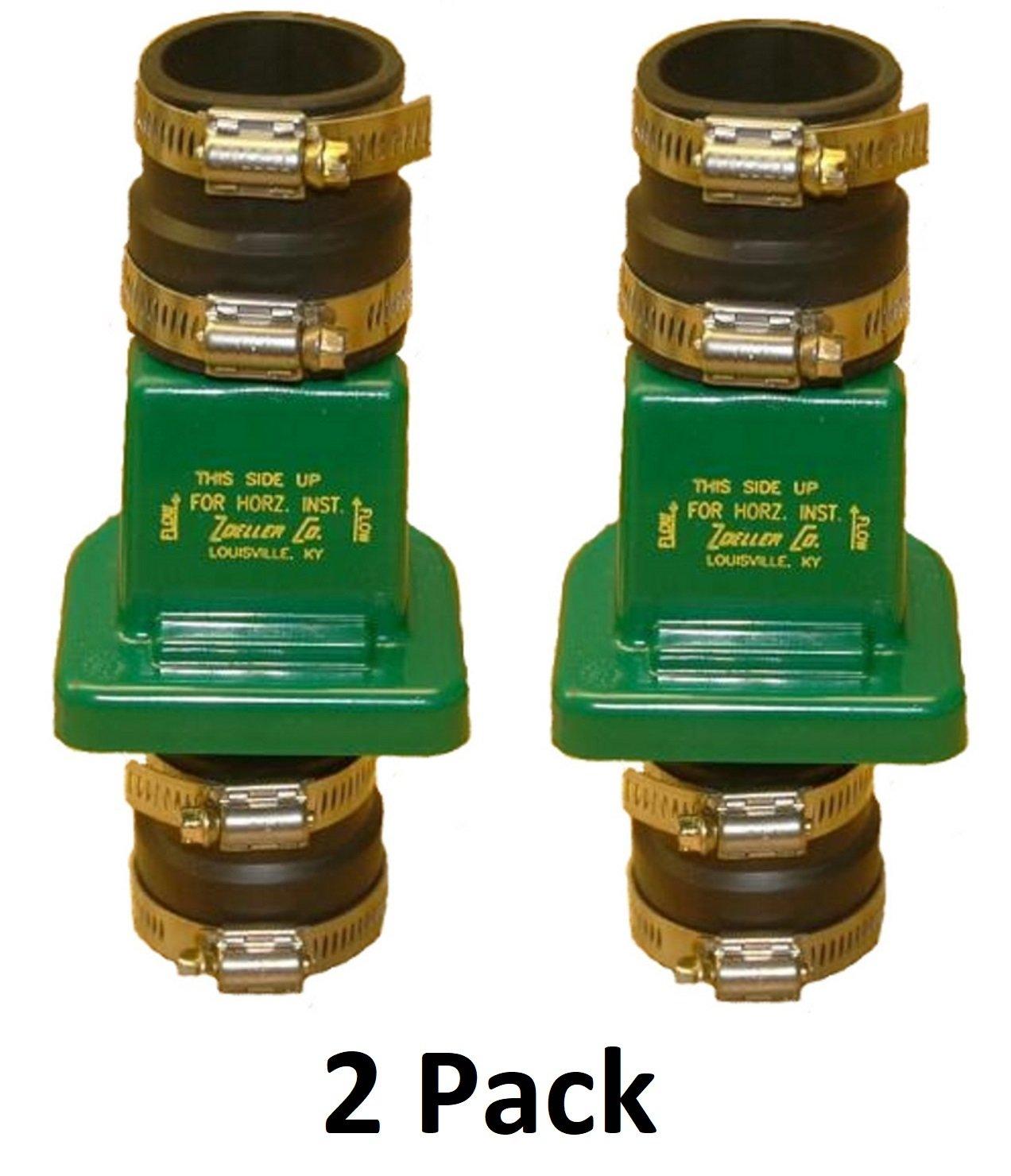 2 Pack Zoeller 30-0181 PVC Plastic Check Valve 1-1//2 Inch