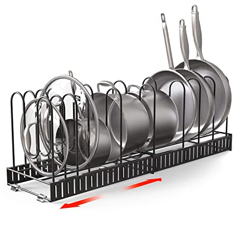 Amazon.com: Vdomus Extensible Pot Rack Organizer with 4 DIY ...