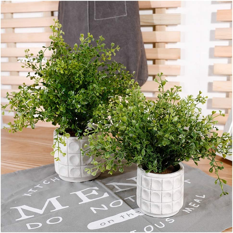 Piante in Vaso False Piante Verdi Home Office Accessori scrivania Creativa Decorata BovoYa Bonsai Mini pianta Verde