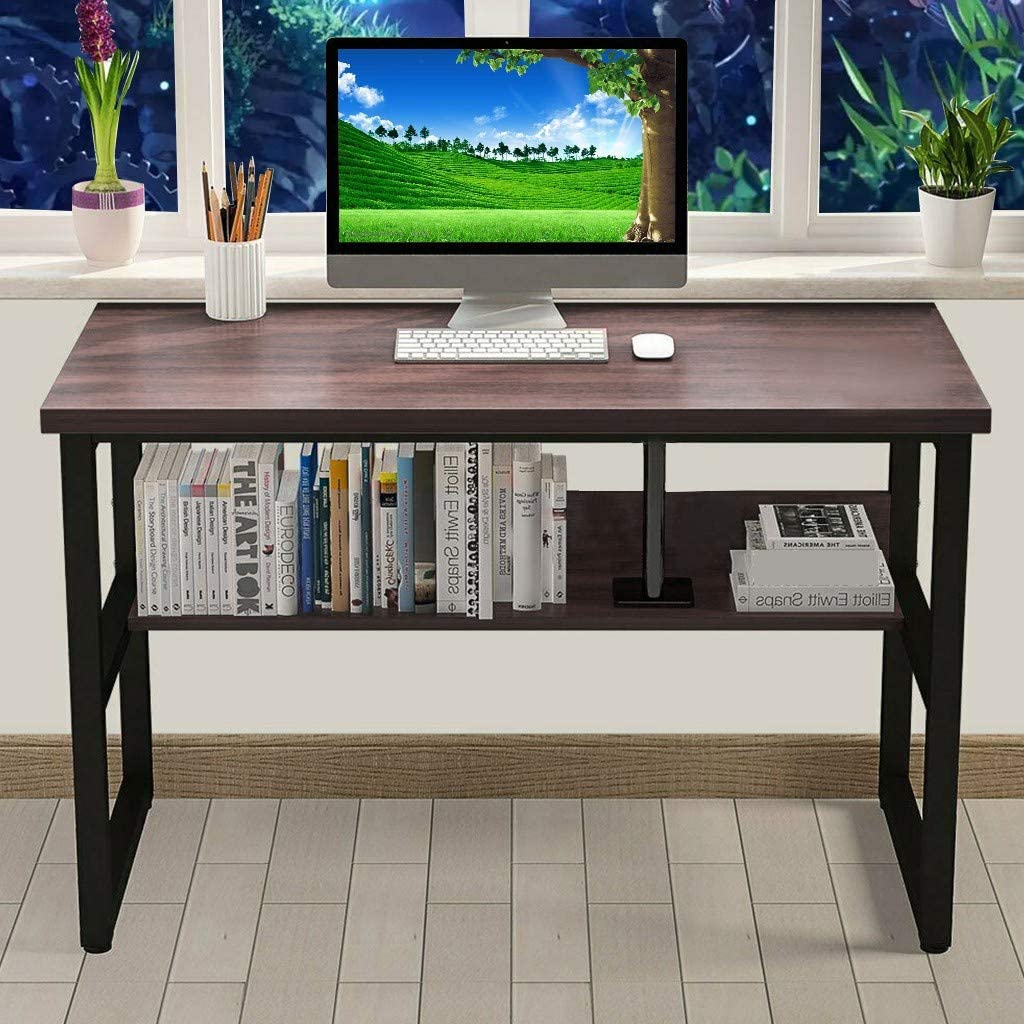Office Desk Workstation PC Laptop Study Table Workstation 47.2 x 23.6 x 29.5 Fastest Shipping from USA JKRED Computer Desk with Bookshelf