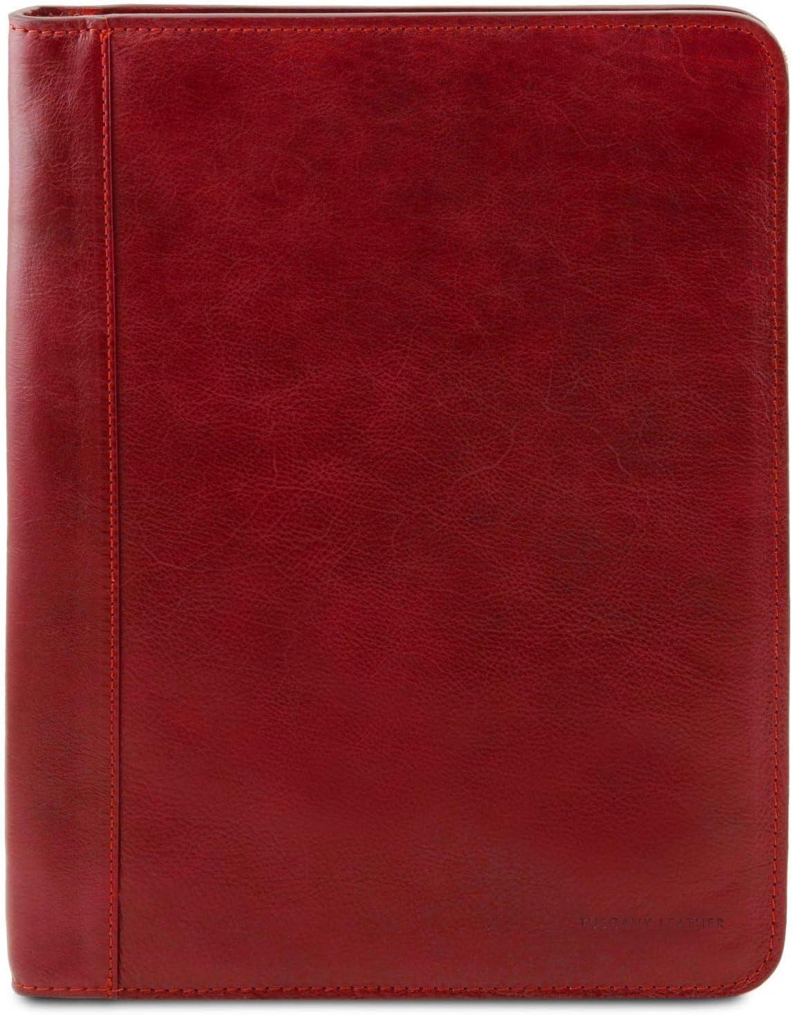 Tuscany Leather Luigi XIV Portadocumentos en pielcon Cierre de Cremallera Rojo