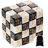 48 Pieces Dice Counters Token Dice Loyalty Dice Marble D6 Dice Cube Compatible with MTG, CCG, Card Gaming Accessory