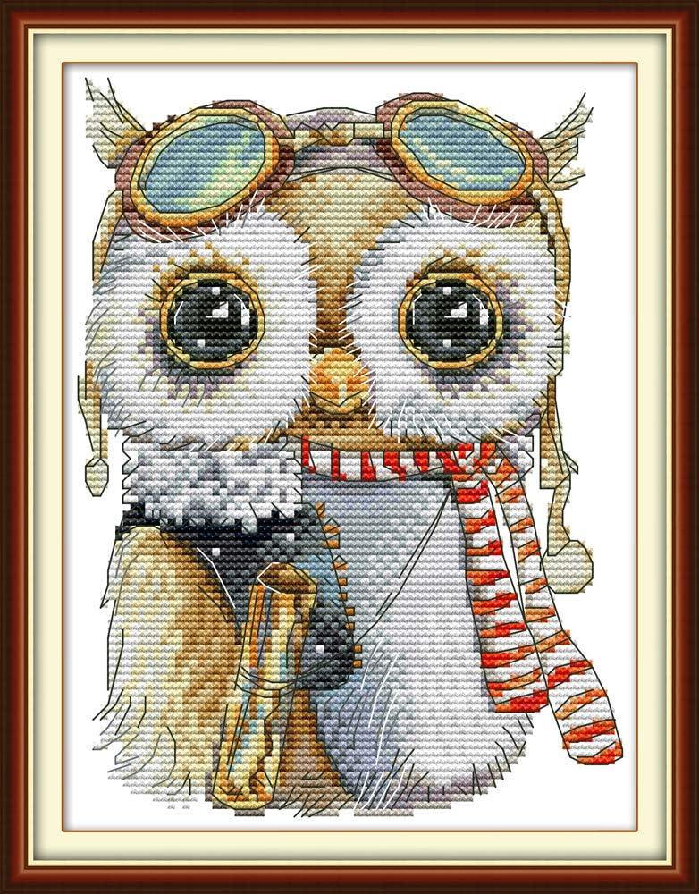 Joy Sunday Cross Stitch Kits 11CT Stamped Tiger and Bee Cross-Stitch Patterns Needlework